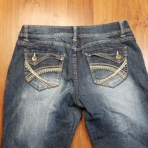 Mudd Juniors Dark Wash Bootcut Flare Jeans Flap